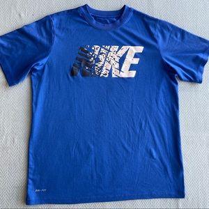 NIKE DRI-FIT Blue Short Sleeve Tee Shirt Size XL